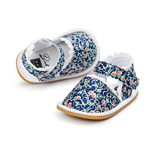 Itaar bebé niñas sandalias primavera verano zapatos antideslizante suela de goma suave para bebés niños primera caminantes Floral Talla:12-18 meses Floral