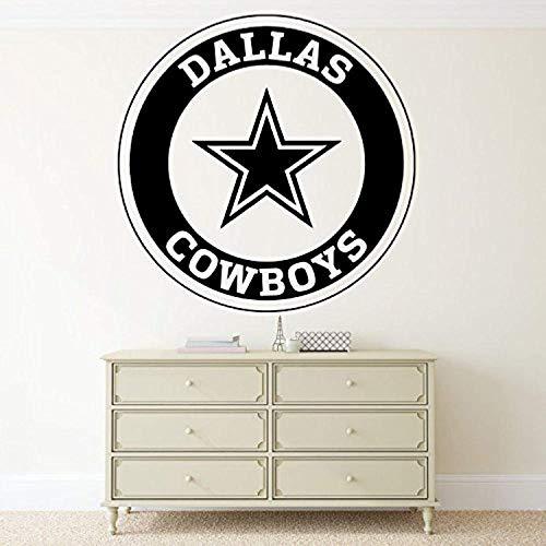 Wall Vinyl Decal Dallas Cowboys Logo Football Emblems Sport Interior Vinyl Decor Sticker Home Art Print TT9686 ()