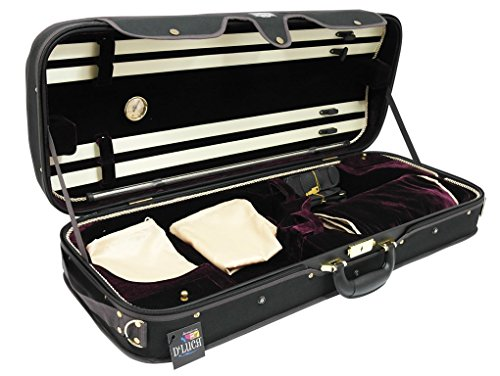DLuca CP04M BKBU Double Violin Black Burgundy product image