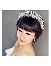 XY Fancy Hand Made Shiny Crystal Bridal Pageant Tiara Rhinestone Hair Accessories Crown Bride Prom