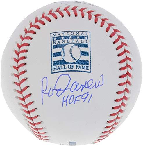 Rod Carew Minnesota Twins Autographed Hall Of Fame Logo Baseball with