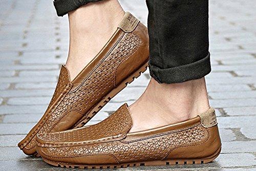 Chaussures Studio SK Mocassins Hommes Marron Noir Chaussure Bateau de Cuir Conduite Taille Loafers Grande rXdAdOqW