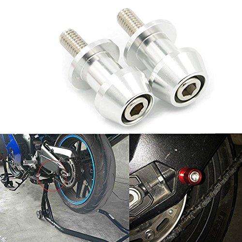 Swing Hayabusa Arm (ViZe Motorcycle Diabolos Sliders Stand Screws Support Screws For Kawasaki KTM Suzuki Honda (Silver, 10MM))