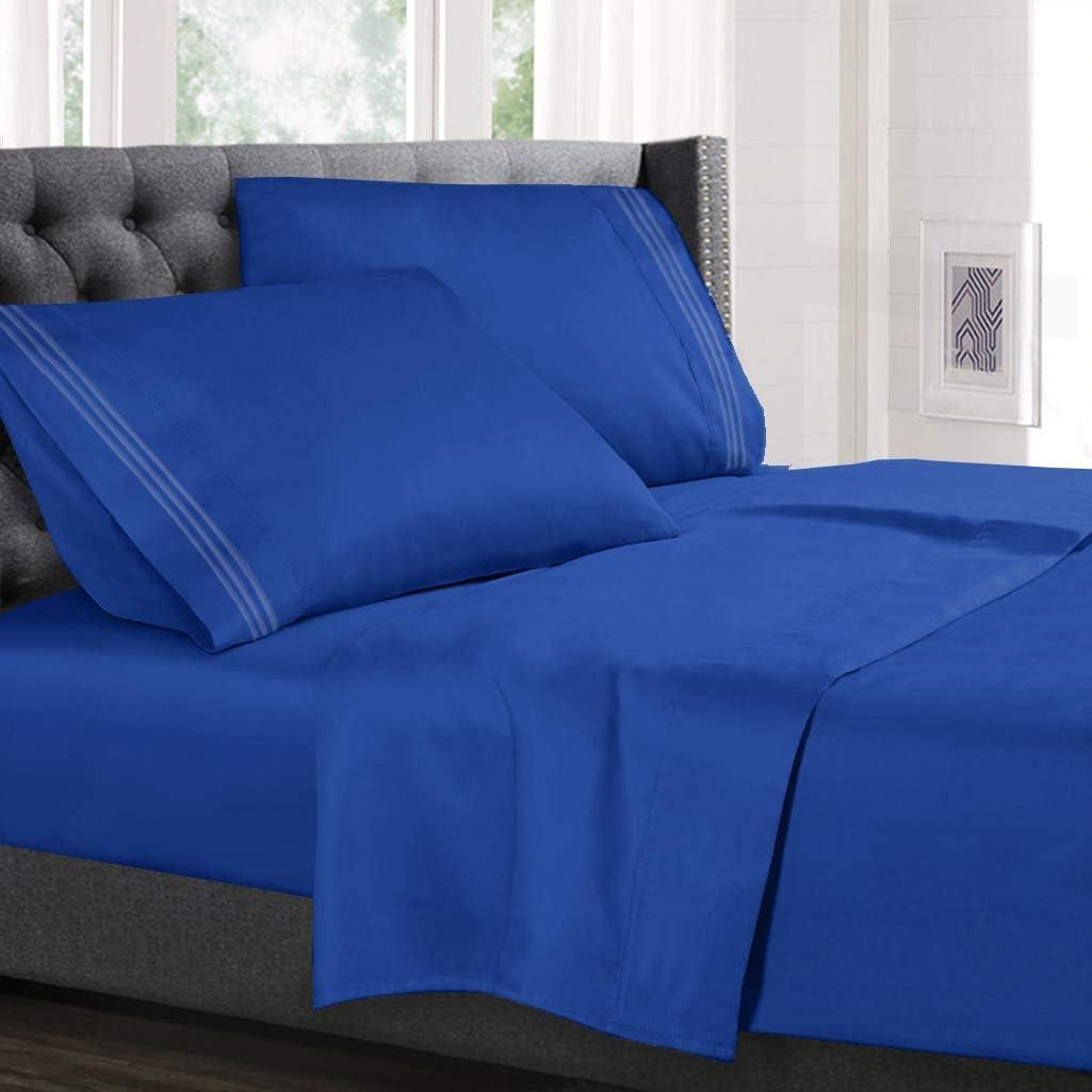 Hearth & Harbor 4 Piece  Blue Bed Sheet Set
