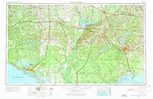 YellowMaps Tallahassee FL topo map, 1:250000 Scale, 1 X 2 De