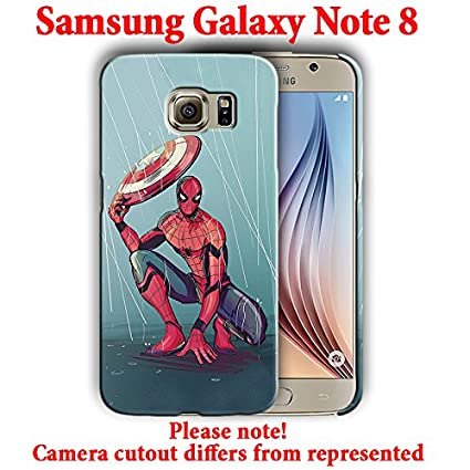Amazon.com: Superheroes for Samsung Galaxy Note 8 Hard Case ...