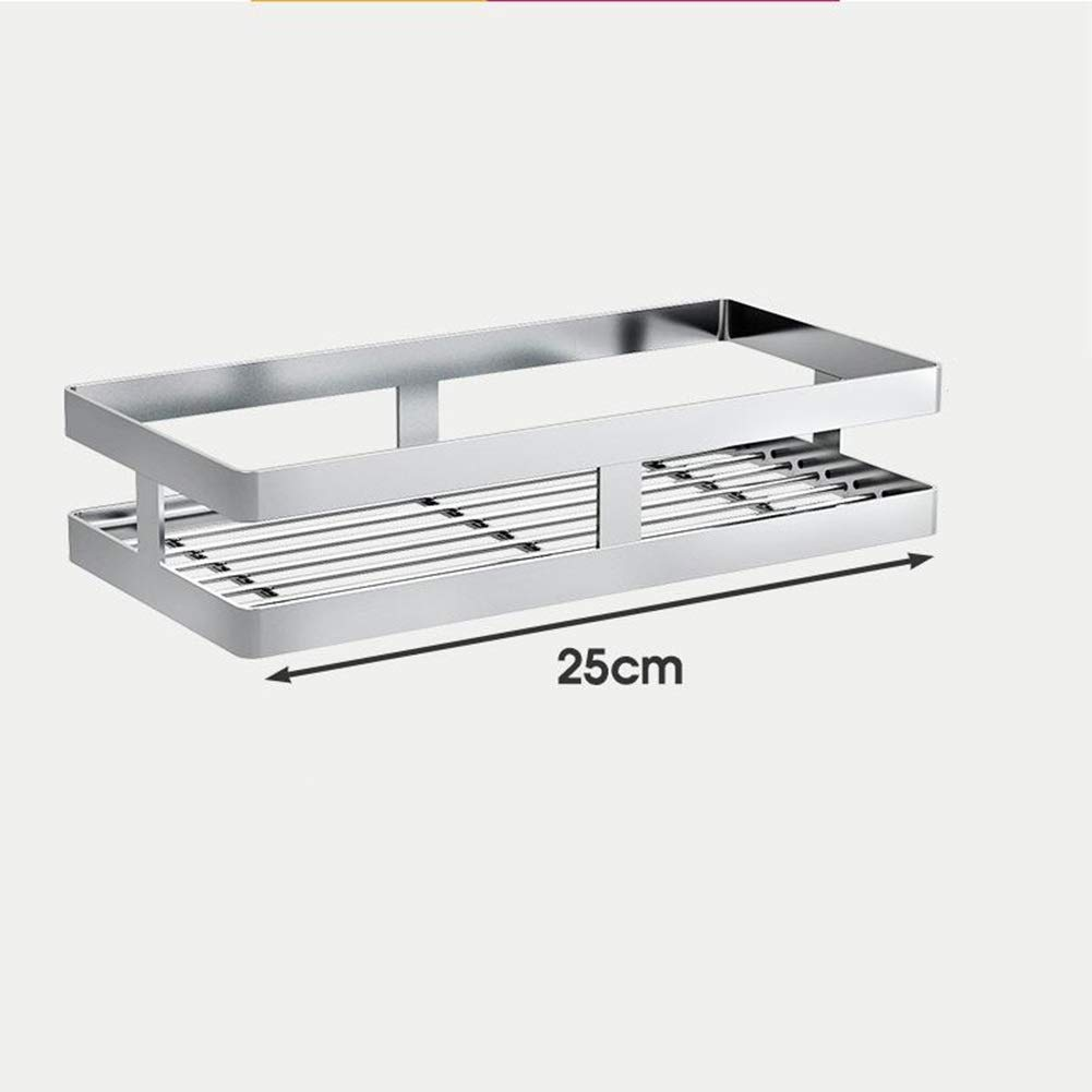 Bookcases Punch-Free Stainless Steel Kitchen Racks Spice Rack Wall-Mounted Wall Seasoning Oil Salt Vinegar Sauce Storage Rack Wall-Mounted Rack Yixin (Color : A, Size : 255.512.4cm)