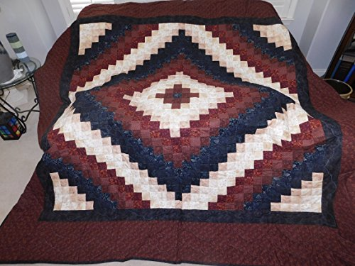 Queen Size, Amish Made, Hand stitched - Trip Around the World Quilt