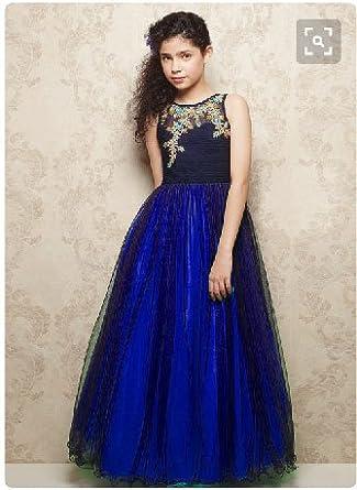 Designer Kids Wear | Shruti S Soft Net Embroidered Ready Made Designer Kids Wear Gowns