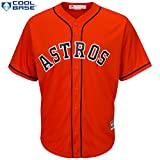 Carlos Correa Houston Astros #1 MLB Men's Cool Base Alternate Jersey Orange (Small)