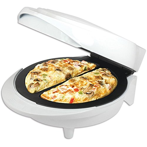 Better Chef IM-475W Non-Stick Double Omelette Maker | Cool-Touch Exterior | Non-Stick Cooking Surface | Make 2 Omelets at Once (White)