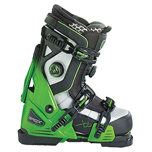 Medium Fit Ski Boots - Apex Alpine Ski Boots, Medium/Size 29, Green