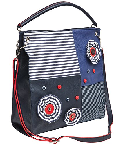 Joe Browns Womens Nautical Handbag with Detachable Strap Blue One ()