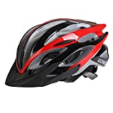 Gonex Road/Mountain Cycling Bike Helmet, Black/Red