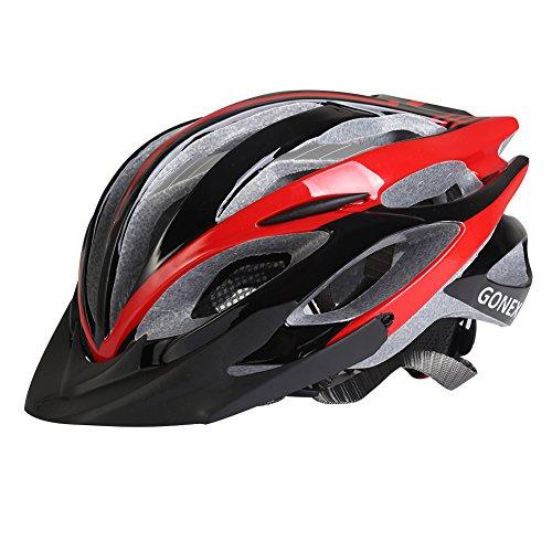 Gonex Road/Mountain Cycling Bike Helmet, Black/Red