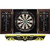 Viper Stadium Sisal/Bristle Steel Tip Dartboard & Cabinet Bundle (Shot King Dartboard, Darts and Laser Throw Line)
