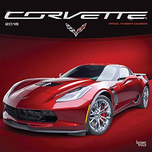 Corvette 2018 12 x 12 Inch Monthly Square Wall Calendar with Foil Stamped Cover, Chevrolet Motor Muscle Car (Multilingual Edition)