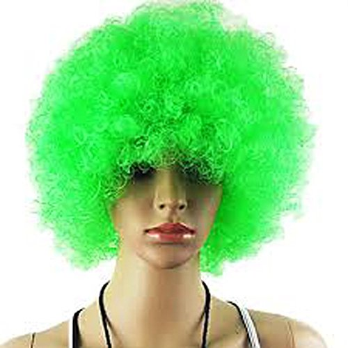 Women's Funny Afro Vibrant Wigs for Cosplay Party Halloween Green (Halloween Costumes Beyonce)