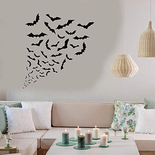 Wall Words Sayings Removable Lettering Wall Sticker Wall Decal Bats Halloween Horror -