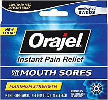 Swabs Sore (Orajel Mouth Sore Swabs, 12 Count - Buy Packs and SAVE (Pack of 2))