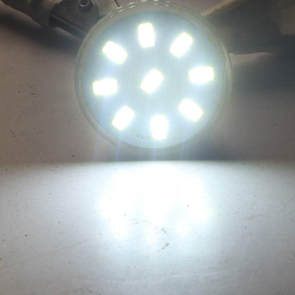 GU4 Bi-Pin Base Pack of 5 9led 5730 12v 24v 20w Halogen Replacement LED Light AC//DC 9-30v 3W LED MR11 Light Bulbs Color : Warm White