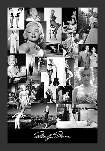 Buyartforless IF KS2410 1.25 Black Plexi Framed Marilyn Monroe Photo Collage 18X12 Art Print Poster Wall Decor by Kelissa Semple