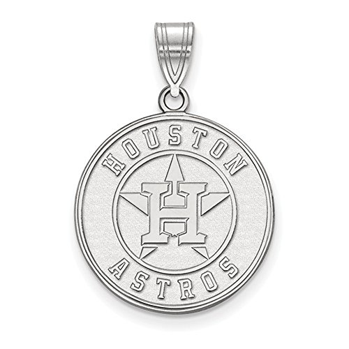 Houston Astros Logo Large Disc Pendant (Sterling Silver) Astro Jewelry
