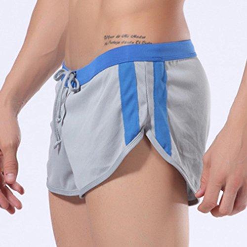 Honghu Loose Swim Slips Maillots de Bain Homme Size S Gris