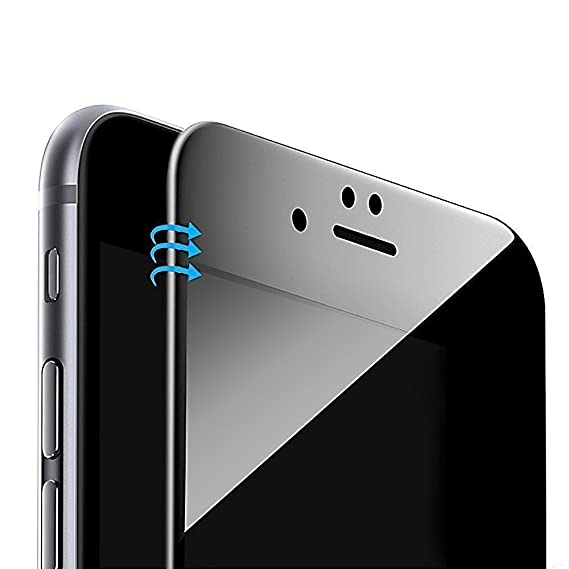 cheap for discount 7cfe8 5cd3e Vintar [3D Full Coverage] Privacy Screen Protector Compatible iPhone 8  Plus/iPhone 7 Plus, 9H Anti-Spy Tempered Glass Screen Protector, (Black)