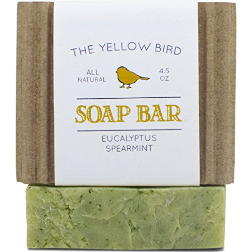 Eucalyptus Spearmint Soap Bar – Artisan Handmade Soap – Natural and Organic Ingredients – Moisturizing Wash for Face, Body, and Hands. Vegan and Parab…