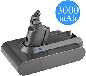 Eagglew 21.6V 3000mAh Li-ion Replacement Compatible for Dyson V6 Motorhead Absolute Battery DC59 DC58 DC61 DC72 DC74 DC62 Animal SV03 SV04 SV05 SV06 SV07 SV09 Cordless Handheld Vacuum