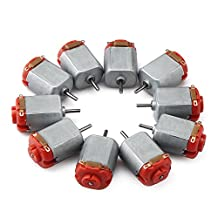 DROK 10pcs Micro 130 DC Motor, DC 3-6V 16500 RPM Cars Toys Electric Motor, High Speed Torque DIY Remote Control Toy Car Hobby Motor, Metal Car Engine Motor Kit for Toys Models DIY