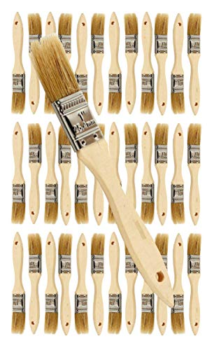 "36 Pack of Single X Thick Paint and Chip Paint Brushes for Paint, Stains, Varnishes, Glues, Acrylics and Gesso. (1"")"
