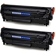 IKONG 2-BLACK 12A toner Compatible Replacement for HP 12A Q2612A works with HP LaserJet 1020 1010 1012 1018 1022 3055 3050 M1319f mfp 3015 1022N 3030 3052 1022NW 3020 M1005 M1005MFP