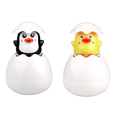 Zoylink 2PCS Bath Toy Sprinkling Animal Egg Squirt Water Toy Bath Tub Toy Shower Toy: Clothing