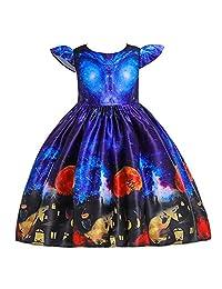 DKmagic Toddler Kids Girls Cartoon Princess Pageant Gown Halloween Party Wedding Dress
