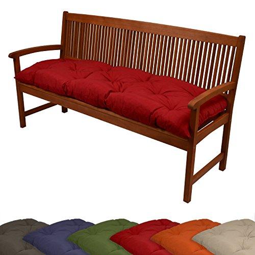 Beautissu-Bank-Kissen-120x50x10-cm-150x50x10-cm-in-diversen-Farben-Bequeme-Polster-Auflage-fr-Garten-Bank-und-Hollywoodschaukel