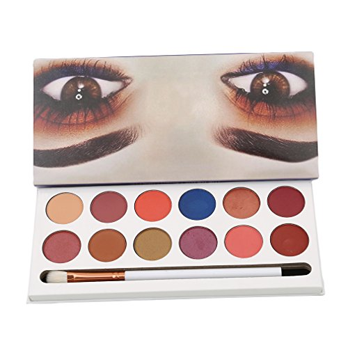 Iumer Eye Shadow 12 Color Glow Eyeshadow Make up Waterproof palette-Neutrals Warm Smooth Eye Shadows