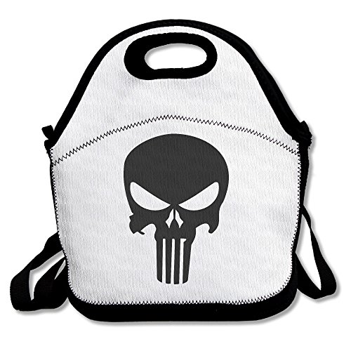 Convenient Punisher Ego Skull Popular Print Street Lunch Bag Toe Lunch Tote