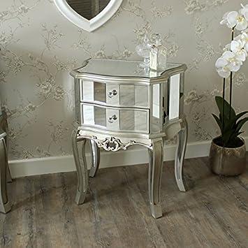 Venezianisch Silber Verspiegelt Nachttisch Lampe Tisch U2013 Perfekte Tische  Für Jeden Flur, Living,,