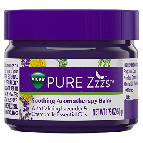 Vicks PURE Zzzs Soothing Aromatherapy Balm with Essential Oils 1.76 oz - Aroma Vera Lavender Essential Oil