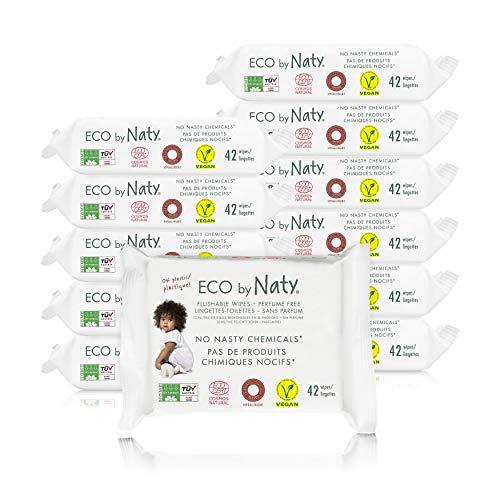 🥇 Eco by Naty Toallitas Desechables en el Inodoro para bebé