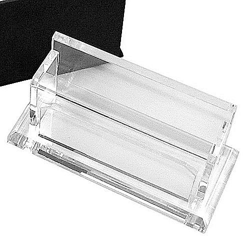 Amlong Crystal Desktop Collection Crystal Business Card Holder or Business Card -