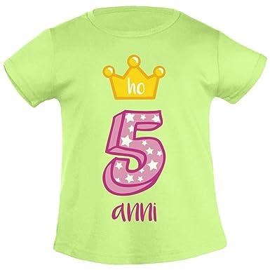 Shirtgeil ¡Feliz cumpleaños! Tengo 5 años. Corona de ...