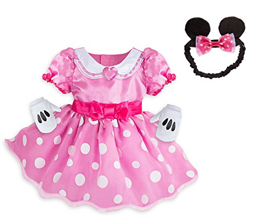 Disney Store Minnie Mouse Pink Costume with Mittens and Ears Headband Set for Baby (3-6 - In Orland Stores