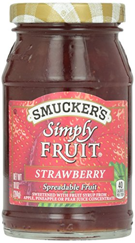Smucker's Simply Fruit Strawberry Spread, 10 Ounce