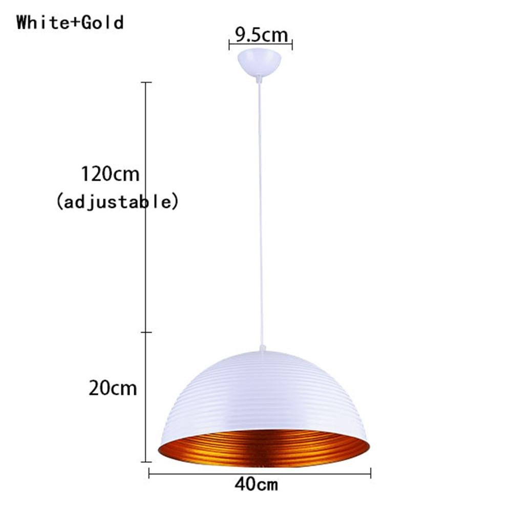 TOYM US- Modern semi-circular chandelier creative personality hotel rooms restaurant aisle color aluminum restaurant lights ( Color : White+Gold )