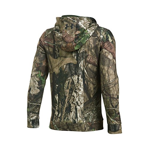 Under Armour Boys' Icon Camo Hoodie, Mossy Oak Break Up C/Artillery Green, Youth - Youth Hunting Clothes
