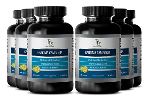 Garcinia supplement - GARCINIA CAMBOGIA EXTRACT - Metabolism lose weight - 6 Bottle 360 Capsules by PL NUTRITION