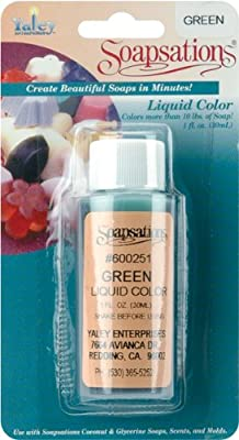 Yaley Soapsations Liquid Color Bottle, 1-Ounce, Green from Yaley